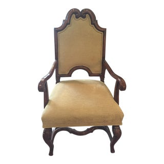 Flemish Yellow Upholstered Armchair