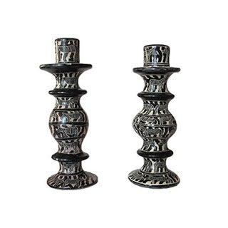 African Candlesticks - A Pair