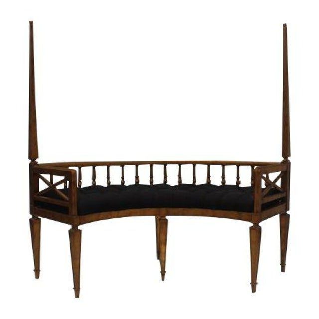 French Antique Curved Two Poster Giltwood Settee - Image 1 of 11