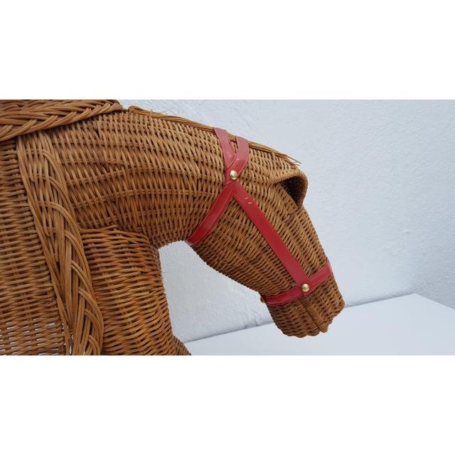 Vintage Horse Rattan Stool . - Image 7 of 10