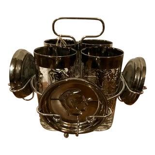 Vintage Kimiko Knight & Crest Drinking Set