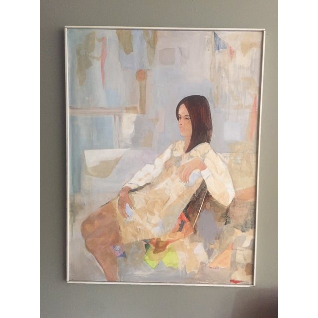 Mod Abstract Portrait Painting - Image 2 of 7