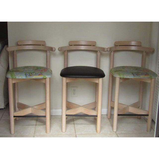 Image of Danish Findahls Mobelfabric Stools - Set of 3