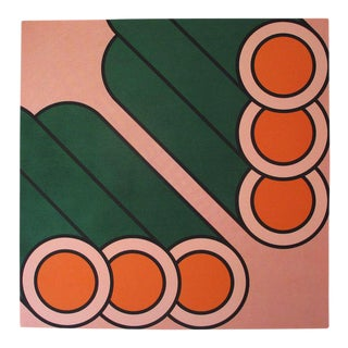 "1973 Vintage ""Pipes"" Large-Scale Pop Art Serigraph"