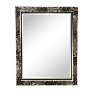Zebra Hide & Silver Frame Beveled Mirror