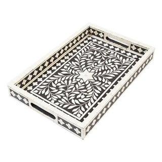 Indian Black Bone Inlaid Tray