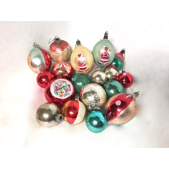 Vintage Glass Christmas Ornaments Set of 18 - Image 5 of 5