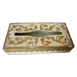 Italian Florentine Gold Gilt Tole Tissue Box