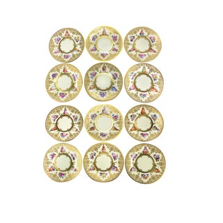 Ambrosius Lamm Dresden Hand Painted Dinner Plates - Set of 12