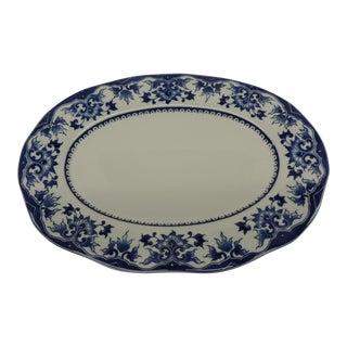 Oval Blue & White Serving Platter