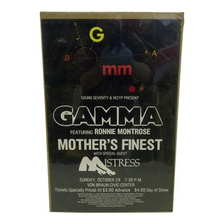 Circa 1980 Gamma Featuring Ronnis Montrose Concert Poster