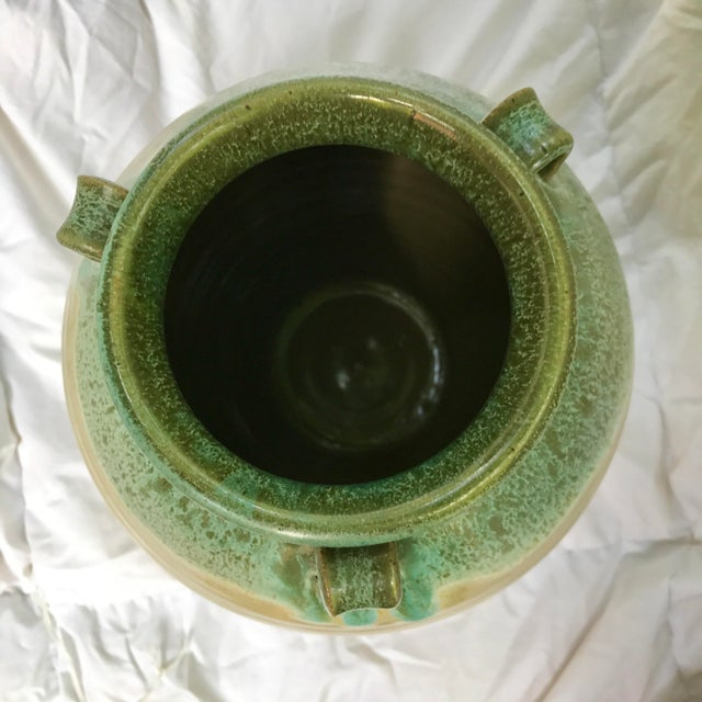 Large Studio Pottery Drip Glazed Floor Urn - Image 4 of 6