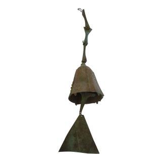 Modernist Paolo Soleri Bronze Brutalist Bell