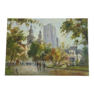 Impressionist Cityscape Painting