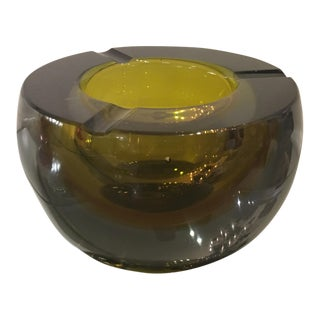 Vintage Seguso Murano Italian Sommerso Glass Geode Ashtray
