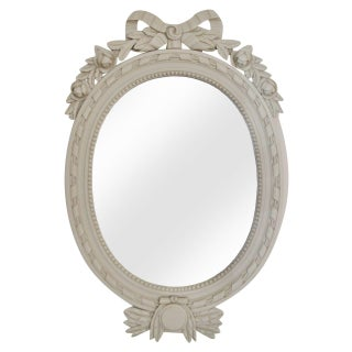 Swedish Gustavian Style Carved Wood Mirror