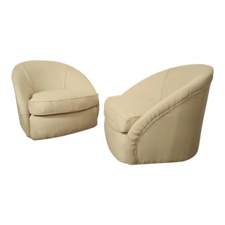 Mid-Century Modern Swivel Club Chairs