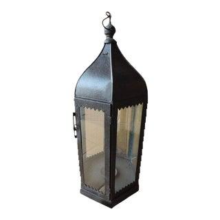 Moorish Dark Iron Floor Lantern