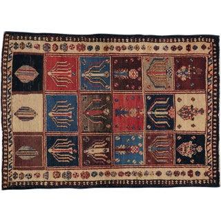 "Vintage Persian Bakhtiari Rug- 3'4"" x 4'8"""