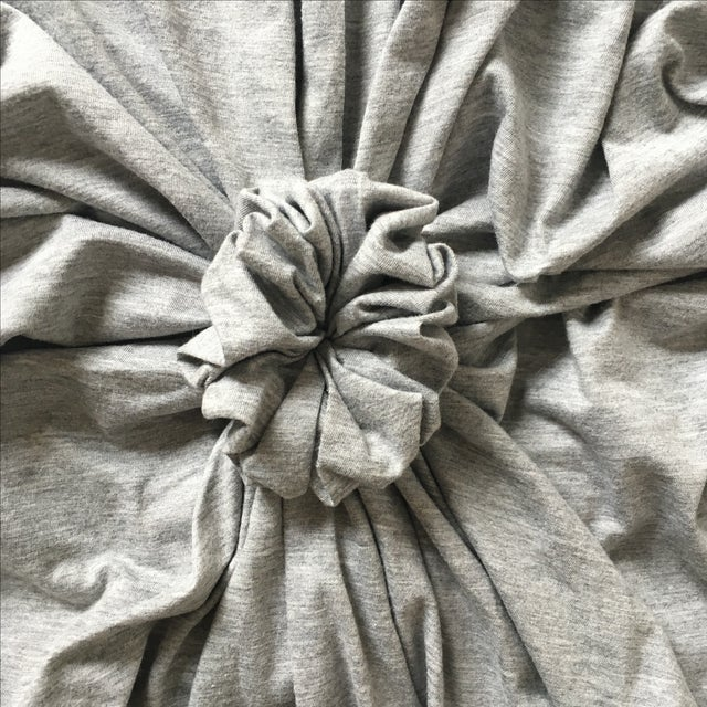 Quilted Rosette Gray Euro Shams- A Pair - Image 4 of 6