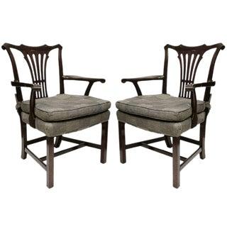 Georgian Style Arm Chairs - A Pair