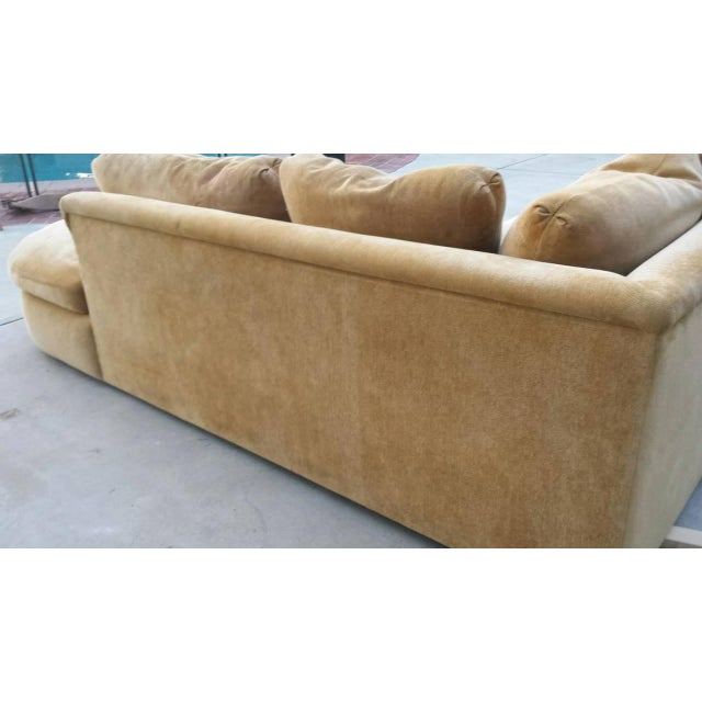 A. Rudin Mid-Century Yellow Sectional Sofa - Image 5 of 7