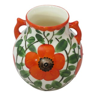 Gerold Porzellan 1960's Czech Registered Orange Poppy Vase