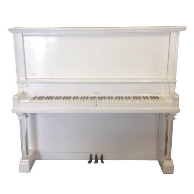 Vintage Lacquered White Piano - Image 1 of 10