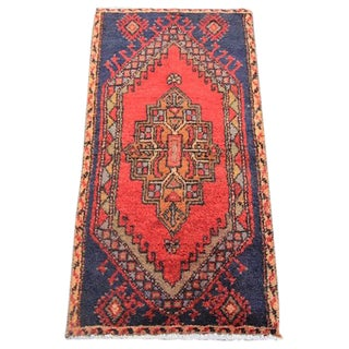"Vintage Turkish Oushak Tribal Rug- 1'6"" x 3'"