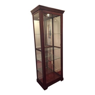 Traditional Glass & Wood Display Cabinet