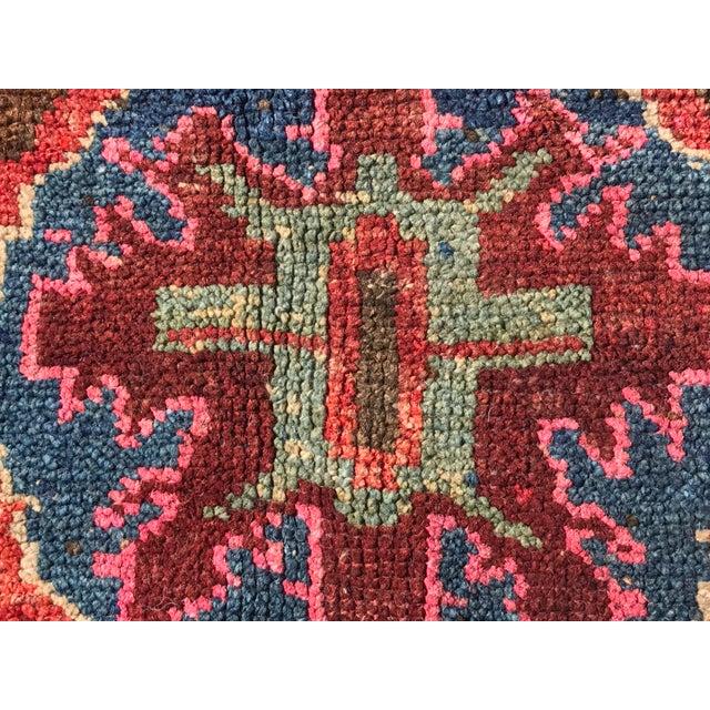 """Antique Turkish Oushak Square Rug - 5'6"""" x 5'7"""" - Image 7 of 11"""