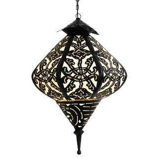 Black & White Metal Work Lantern