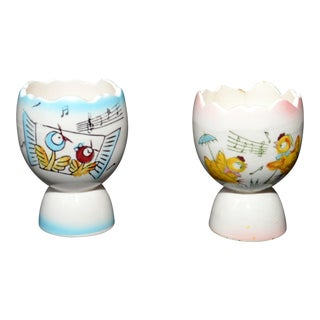 Ceramic Egg Cups - A Pair