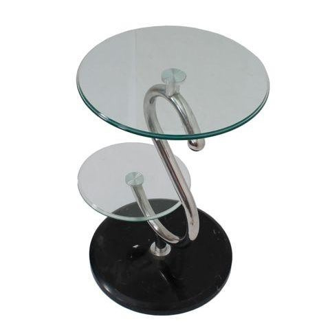 2 tier glass top lamp table
