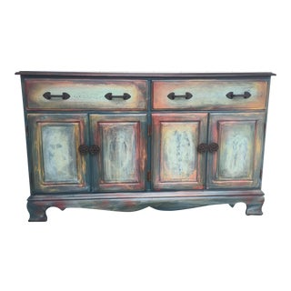 Traditional Rustic Buffet/Server - 2 Drawers, 2 Cabinets