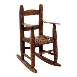 Miniature Handmade Toy Rocking Chair