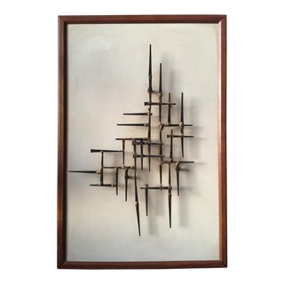 Mid-Century Nailhead Wall Art