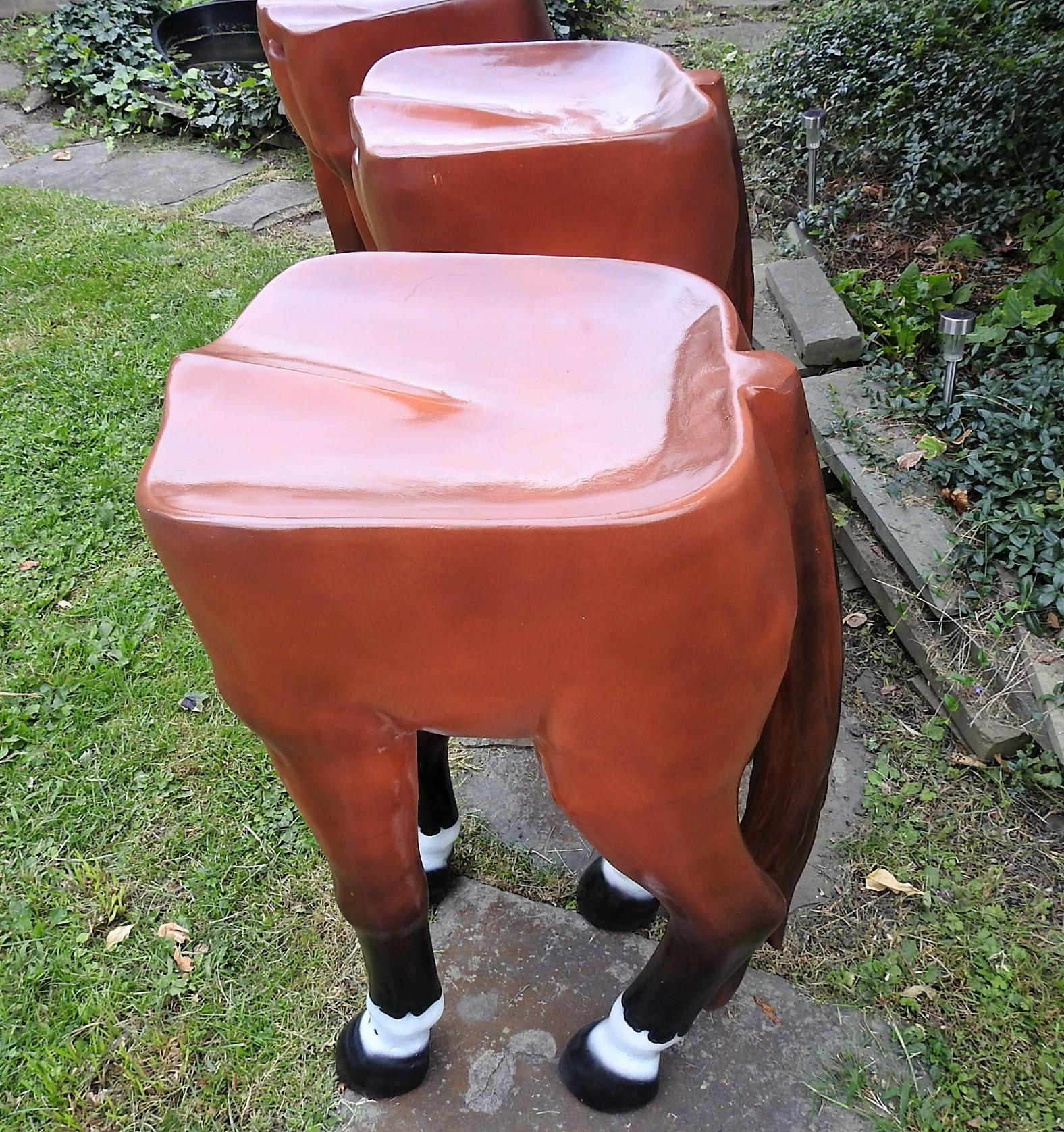 Horse Shaped Bar Stools Set Of 3 Chairish