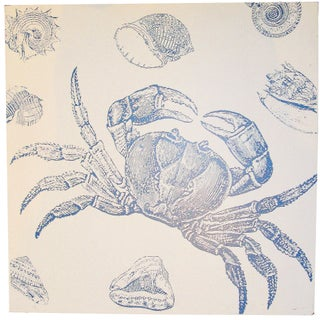 Crab Print on Wood