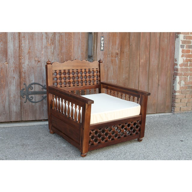 Moorish Carved Chair - Image 9 of 9