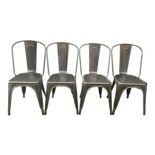 Tolix Marais Steel Cafe Chairs - Set of 4