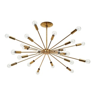Gino Sarfatti 24 Light Brass 'Sputnik' Chandelier model 4081, ca. 1950