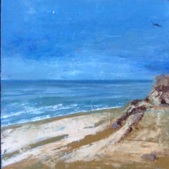 Ballston Beach Abstract Seascape Painting - Image 1 of 5