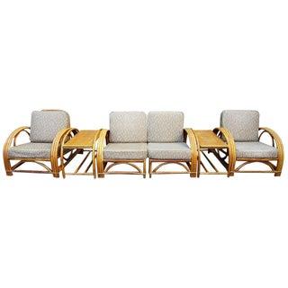 Vintage Paul Frankl Style Rattan Furniture - Set of 5