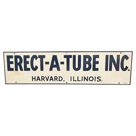 1970s Metal Erect-A-Tube Sign - Image 1 of 4