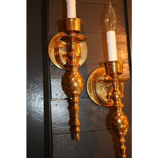Vintage Solid Brass Sconces - Image 6 of 7