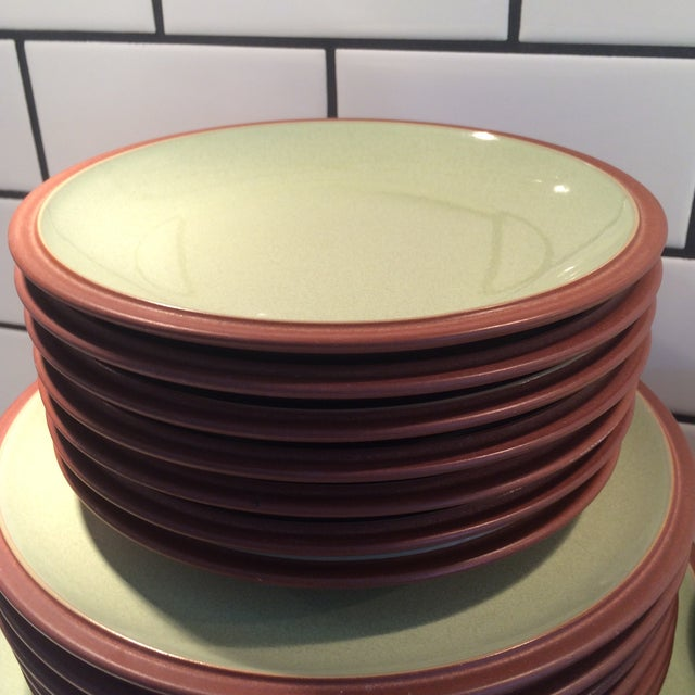 Green and Brown Dinnerware - Set of 6 - Image 4 of 9