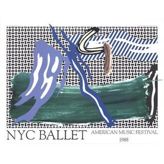 1988 Roy Lichtenstein NYC Ballet American Music Festival Poster