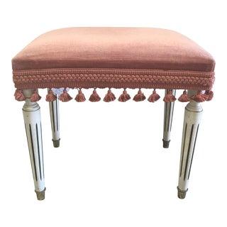 Jansen Style Rusty Pink Footstool