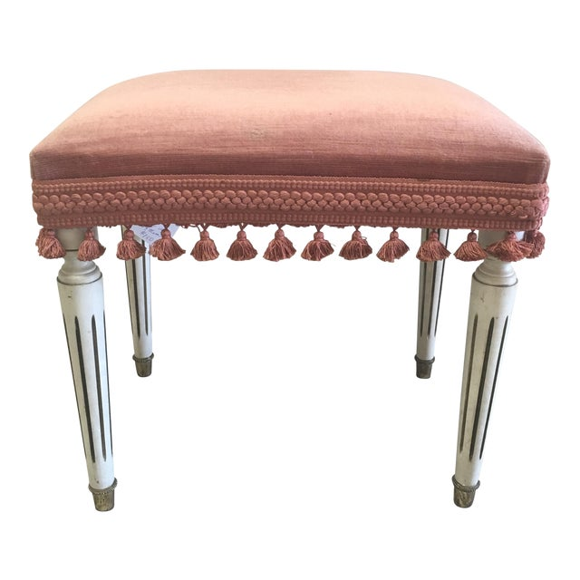 Jansen Style Rusty Pink Footstool - Image 1 of 8